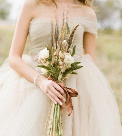 Рустик букет невесты