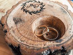свадебные кольца в рустике