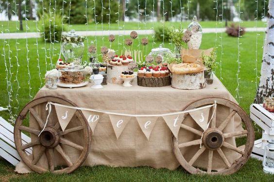 свадебный стол в стиле рустик